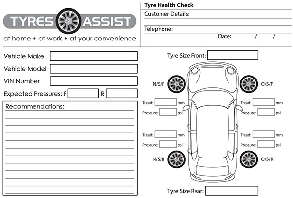 Tyre Health Check Form